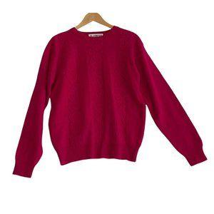 Vintage SK & Company Pink Lambswool & Angora Rabbit Hair Blend Sweater Sz Medium